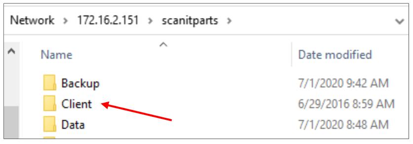 Open the client folder